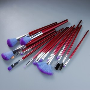 16pc Professional Cosmetic Makeup Make up Brush Brushes Set Kit With Purple Bag Case