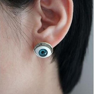1 Pair At Least Can Discount Western Ancient Punk Coffee Evil Eye Earrings