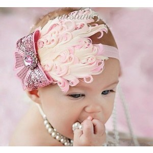 Lovely Girls Baby Feather Headband 4#