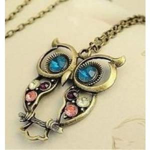 Dragonpad Hollow Out And Carve Owl Necklace