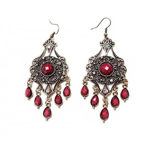 Bohemia Colorful Beads Tassel Dangles Earrings Cheap National Jewelry for Wear,100545