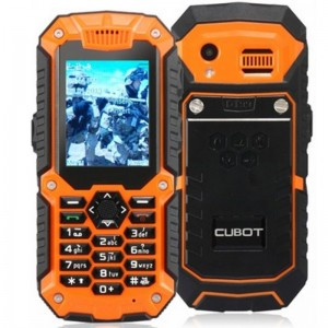 Cubot DT99 2.2-inch TFT Screen 240x320 Single Core MTK6225 104MHz Waterproof Mobile Phone with Bluetooth, Walkie Talkie (1.3M) (Black & Orange)