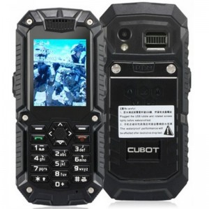 Cubot DT99 2.2-inch TFT Screen 240x320 Single Core MTK6225 104MHz Waterproof Mobile Phone with Bluetooth, Walkie Talkie (1.3M) (Black)