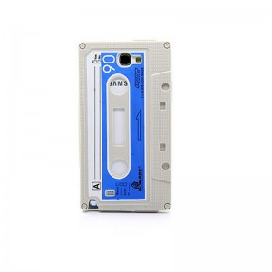 Retro Cassette Tape Silicone Case for Samsung Galaxy Note II