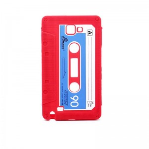 Cassette Tape Silicone Protective Case for Samsung Galaxy Note (Red)