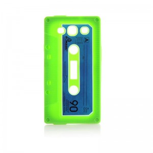 Retro Cassette Tape Silicone Case for Samsung Galaxy S3 (Green)