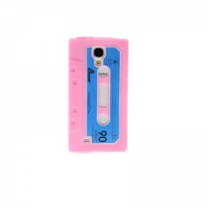 Retro Cassette Tape Style Protective Silicone Back Case for Samsung S4 i9500
