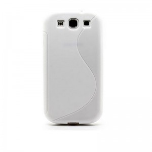 Textured TPU Protective Case for Samsung Galaxy S3 (White)