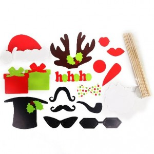 17 Pieces/set Wedding Novelty Photographing Props by Kitty-Party Christmas Fun Funny Props by Kitty-Party Hat Mustache Antlers Lips Novelty Photographing Props by Kitty-Party
