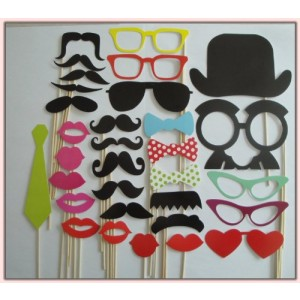 Colorful Props On A Stick Mustache Photo Booth Party Fun Wedding Christmas Birthday Favor