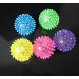 pack of 5 Elastic Spike Ball with LED flash light up for fun/Games with Cosmos Fastening Strap