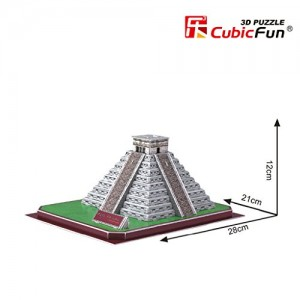 Maya Pyramid, 48 Piece 3D Jigsaw Puzzle Made by 3D-Puzzle