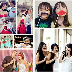 8 Pieces/set Wedding Party Christmas Party Novelty Mustache Photographing Props by Kitty-Party Funny Lips Hat Crown Props by Kitty-Party