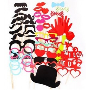 44 Pieces/set Birthday Party Creative Props by Kitty-Party Wedding Party Novelty Mustache Lips Glasses Mask Photographing Props by Kitty-Party