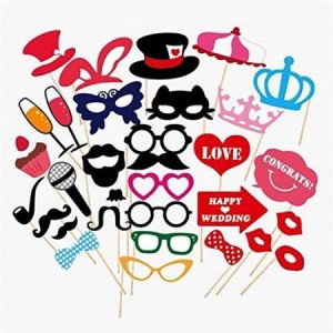 Wedding Photo Booth Props new design 2015, wedding decorations, birthday party photo props, attached to the stick NO DIY required