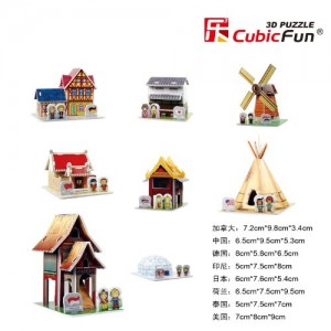 C100H World Traditional Houses Puzzle