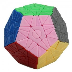WitEiden 2x2 Megaminx Magic Cube Stickerless