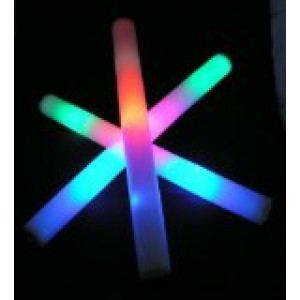 "18 pack of 18"" Multi Color Foam Baton LED Light Sticks - Multicolor Color Changing 3 model flashing"