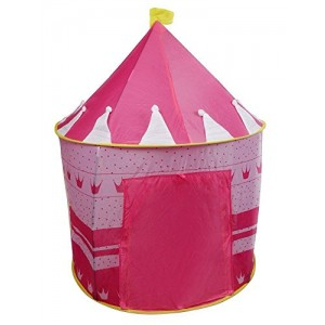 Yr.seasons Pink Portable Folding Princess Play Tent Children Kids Castle Cubby Play House