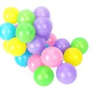 "50 Pcs Colorful Soft Plastic Ocean Fun Balls Baby Kids Tent Swim Pit Toys Game Gift 2.76"" (random colors)"