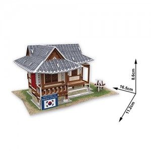 W3157h Cubicfun Cubic Fun 3d Puzzle Model Traditional Residence in South Korea