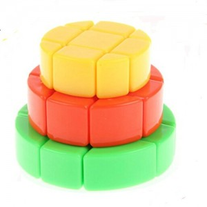 YuXin Cake Shap 3x3x3 Stickerless Cube Puzzle,