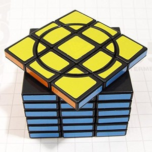 WitEden Fully-functional Super Crazy 3x3x7:01 Magic Cube Black