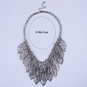 Women Girl Fashionable Style Leaf Shape Charming Beautiful Necklace Chain