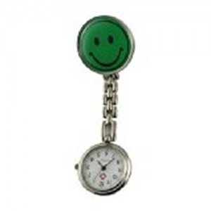 Oulm Unisex Nurse or Doctor Convenient and Simple Watch (Smiling Face Green)