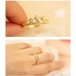 Jade Onlines Golden Style Crown Rings