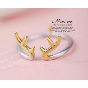 Oyang South Korea S925 Silver New Antlers Ring