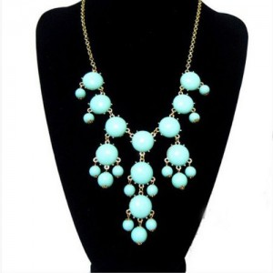 Beautiful and Stylish Women Bubble Bib Statement Fashion Chain Necklace