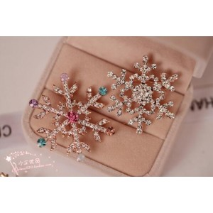 Oyang The Upscale Crystal Christmas Tree Brooch White Snow