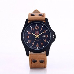 SOKI Men Fashion Watch - Gentry Contracted Luxurious Unique Design Calendar Quartz Causal Dial Wirstwatch