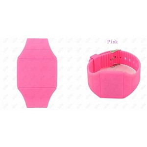Touch Screen Colorful Ultra-thin Led Watch (pink)