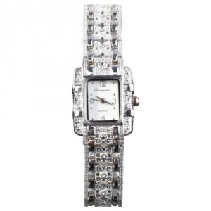 HACBIWA Popular Fashion Women Lady Gril Bling Jewelry Stainless Steal Analog Wrist Watches
