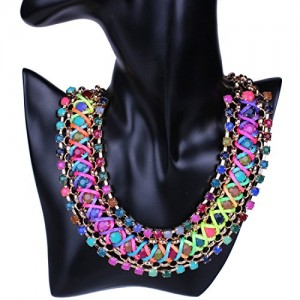 Fashion Multiple Layers Round Ball Chandelier Torsade Colorful Bib Necklace