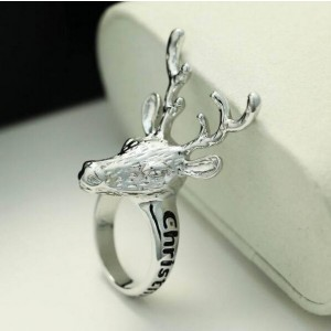 Oyang The New Creative English Deer Head Personality Ring