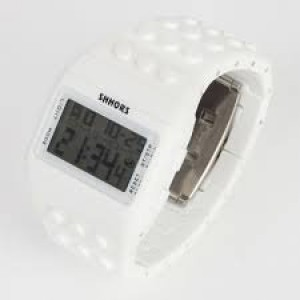 Lego Style Watch White Digital