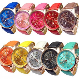 Mixeshop 10-pack Unisex Tally Style Silicone Watch