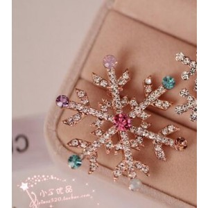Oyang The Upscale Crystal Christmas Tree Brooch Colorful Snow