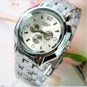 2014 Hot 3 Colors Casual Quartz Watches Sports Man Wristwatches (Silver)