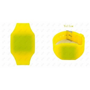Touch Screen Colorful Ultra-thin Led Watch (yellow)