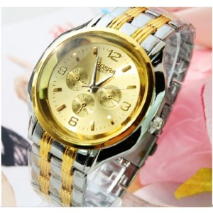 2014 Hot 3 Colors Casual Quartz Watches Sports Man Wristwatches (Gold)