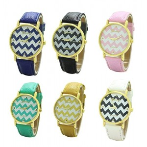 Mixeshop 6-pack Unisex Tally Style Silicone Watch