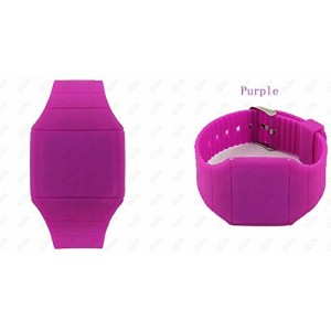 Touch Screen Colorful Ultra-thin Led Watch (purple)