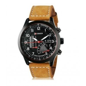 Latest Style Authentic Curren Men's Watches Sports Military Men Quartz Watch,black