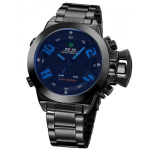 Newest Luxury Weide Watches Brand Quartz Analog Military LED Japan Movement 3atm Date Alarm Stainless Steel Watch