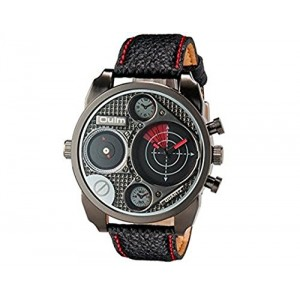 OYang Double Movements Japan Movement Quartz Men's Analog Wrist Watch (Red)