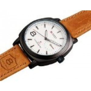 Vogue CURREN Automatic Watches For Men Stylish Quartz Analog Watch with Leather Strap 8139